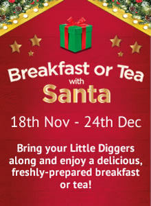 Breakfast and Tea with Santa